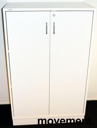 Ringpermreol med 2 dører, i hvitt fra Svenheim, 3 permhøyder, 80cm b, 127cm h, pent brukt bilde 1