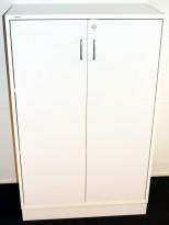 Ringpermreol med 2 dører, i hvitt fra Svenheim, 3 permhøyder, 80cm b, 127cm h, pent brukt