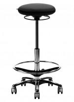 Arbeidsstol/behandlerstol fra Savo, modell JOI, ekstra høy sittehøyde (61-86cm), sort stoff, pent brukt