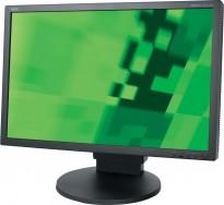 Flatskjerm til PC: NEC MultiSync EA241WM, 24toms 1920x1200, VGA/DVI/USB, pent brukt