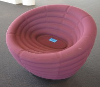 Hay Blow loungestol / lenestol i lilla stoff, Ø=86cm, pent brukt