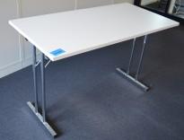 Klappbord / sammenleggbart kursbord / arbeidsbord i hvitt/krom fra RBM, 120x60cm, brukt
