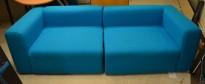 HAY Design-sofa, modell Mags 230cm bredde i turkis stoff, pent brukt