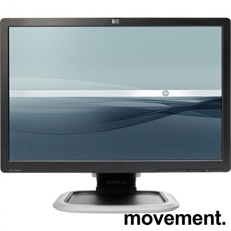 Flatskjerm til PC: Hewlett-Packard L2245w, 22toms, 1680x1050, VGA/DVI, pent brukt
