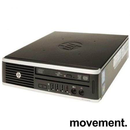 Stasjonær PC: HP Compaq 8200 Elite Ultra-slim Desktop, i5-2400S 2,5GHz/4GB/275GB SSD/WIN10, pent brukt bilde 1