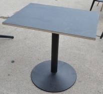 Kafebord med plate i sort, sort understell fra Pedrali, 60x80cm, brukt