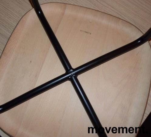 Stablebar barkrakk i eik / sortlakkert understell, sittehøyde 66cm, pent brukt bilde 3