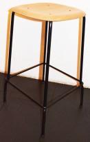 Stablebar barkrakk i eik / sortlakkert understell, sittehøyde 66cm, pent brukt