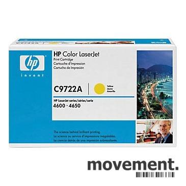 Toner til HP Color LaserJet460046104650 C9722A 641A