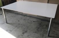 Møtebord i lys grå laminat fra Duba B8, 190x130cm, passer 6-8 personer, pent brukt