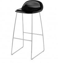 Barkrakk fra Gubi i sort / krom, 78cm sittehøyde, Modell Gubi 3, Komplot Design, pent brukt