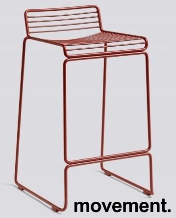 Barstol fra HAY, modell HEE i rust (rød), 65cm sittehøyde, pent brukt, noe avskalling i lakk bilde 1