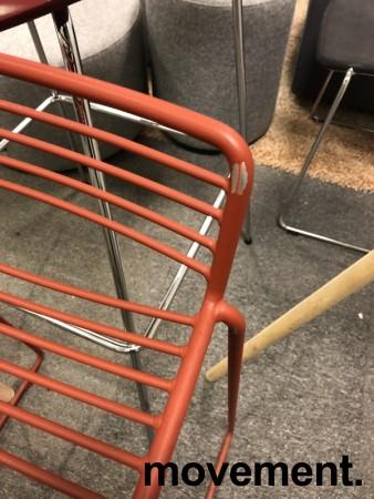 Barstol fra HAY, modell HEE i rust (rød), 65cm sittehøyde, pent brukt, noe avskalling i lakk bilde 4
