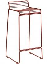 Barstol fra HAY, modell HEE i rust (rød), 75cm sittehøyde, pent brukt