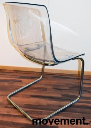 IKEA Tobias konferansestol i transparent plast / krom, pent brukt bilde 3