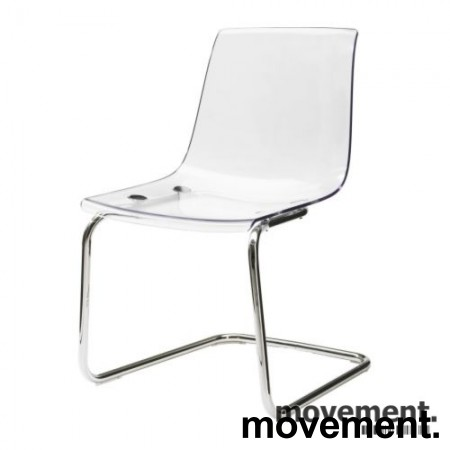 IKEA Tobias konferansestol i transparent plast / krom, pent brukt bilde 1