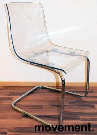 IKEA Tobias konferansestol i transparent plast / krom, pent brukt bilde 2