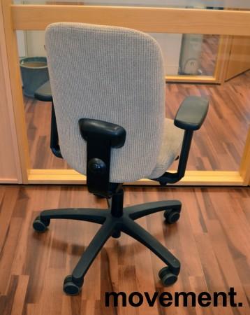 Savo kontorstol i lys gråbeige, mod EOS2HL med armlener, pent brukt bilde 2