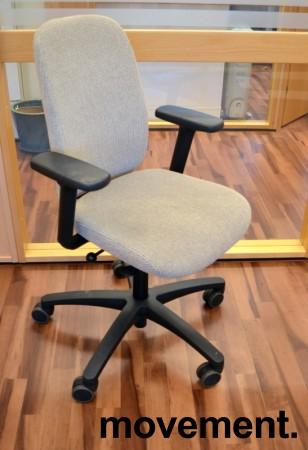 Savo kontorstol i lys gråbeige, mod EOS2HL med armlener, pent brukt bilde 1