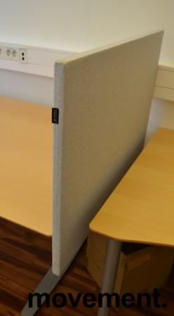 Bordskillevegg fra Edsbyn i lyst grått stoff, 90x65cm, pent brukt bilde 2