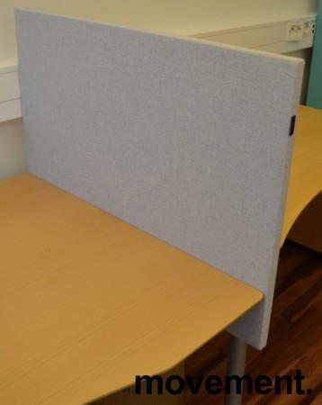 Bordskillevegg fra Edsbyn i lyst grått stoff, 90x65cm, pent brukt bilde 1