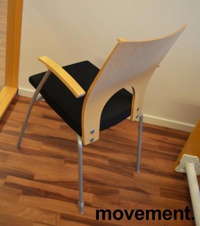 Konferansestol / møteromsstol fra Kinnarps, modell Yin i sort/bjerk, pent brukt bilde 2