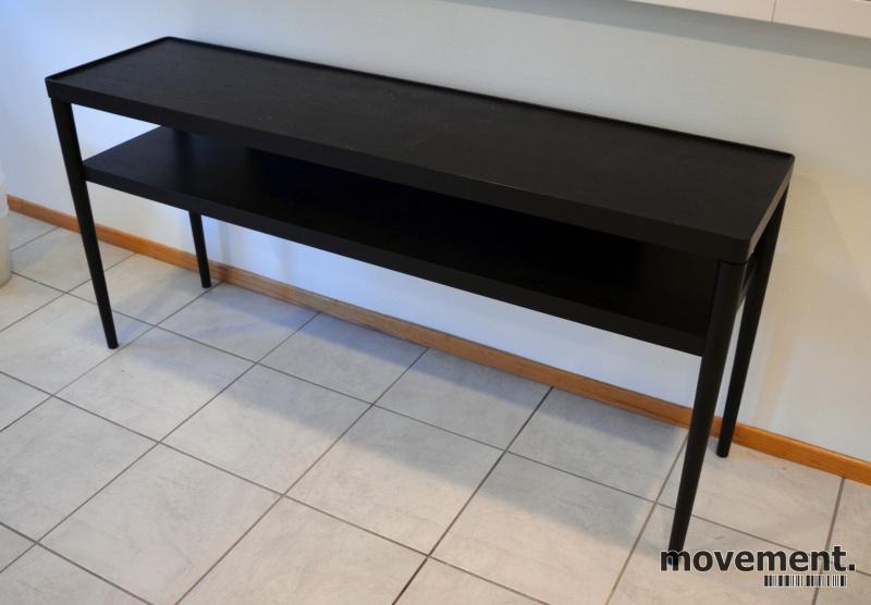 Unike IKEA Stockholm skjenk / sidebord / lavhylle i sortlakkert VD-19