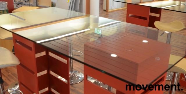 Glassplate / plate til glassbord, 170x86cm, fasetterte kanter, pent brukt bilde 1