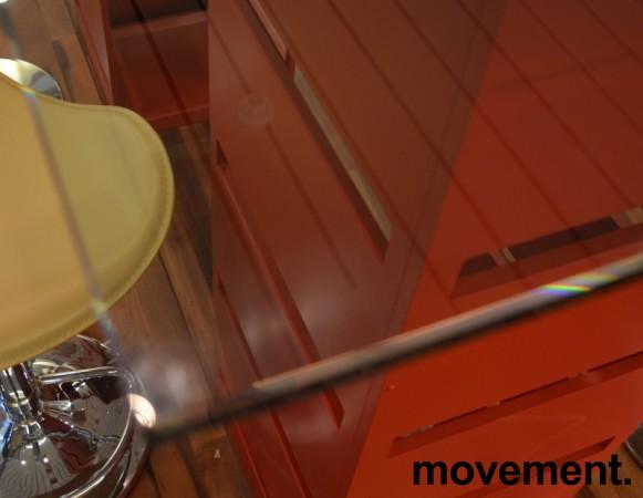 Glassplate / plate til glassbord, 170x86cm, fasetterte kanter, pent brukt bilde 2