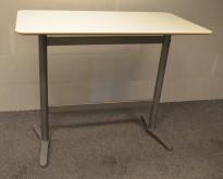 Loungebord fra Ikea, modell Billsta, med hvit plate 130x70m, H=105cm, pent brukt