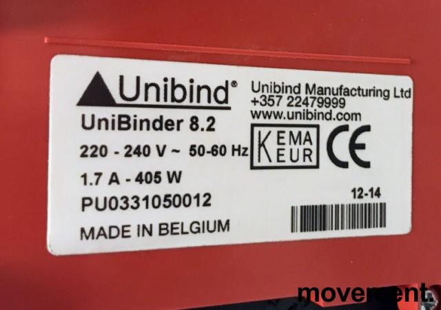 Unibind elektrisk innbindingsmaskin, modell Unibinder 8.2, pent brukt bilde 3