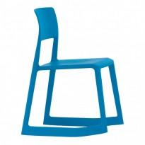 Vitra Tip Ton konferansestol / stablestol i blått, design: Edward Barber & Jay Osgerby, pent brukt