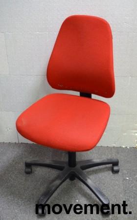 Savo 50 kontorstol i rødt ullstoff, pent brukt bilde 1
