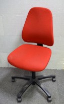 Savo 50 kontorstol i rødt ullstoff, pent brukt