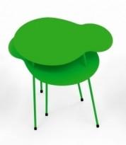 Loungebord i grønnlakkert metall fra Offecct, modell Amazonas, 50x40cm, pent brukt