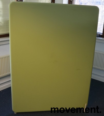 Lyddempende skillevegg i lyst grønt stoff, Abstracta Softline, 120x160cm, pent brukt bilde 3