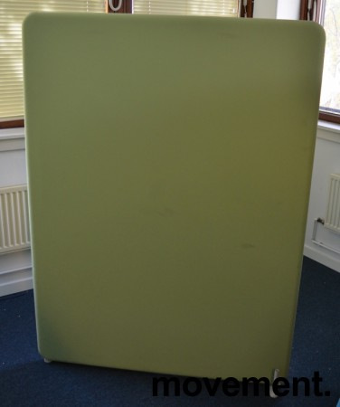 Lyddempende skillevegg i lyst grønt stoff, Abstracta Softline, 120x160cm, pent brukt bilde 1