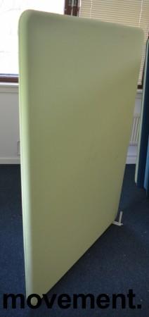 Lyddempende skillevegg i lyst grønt stoff, Abstracta Softline, 120x160cm, pent brukt bilde 2
