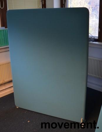 Lyddempende skillevegg i to blåfarger, mørk blå / lys blå, 120x160cm, pent brukt bilde 2