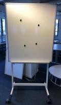 Mobilt whiteboard på hjul, 100x120cm whiteboard, 200cm stativhøyde, pent brukt