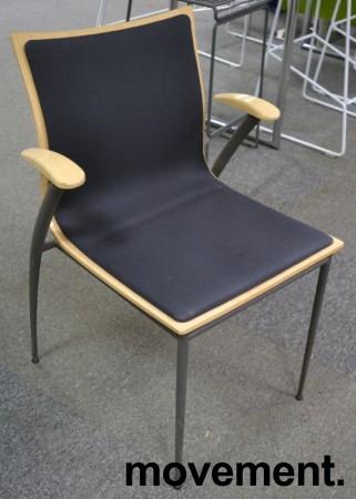 Konferansestol fra Skeie i bjerk / grått stoff, pent brukt bilde 1