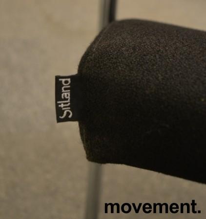 Konferansestol fra Sitland, modell Passepartout i sort / krom, pent brukt bilde 3