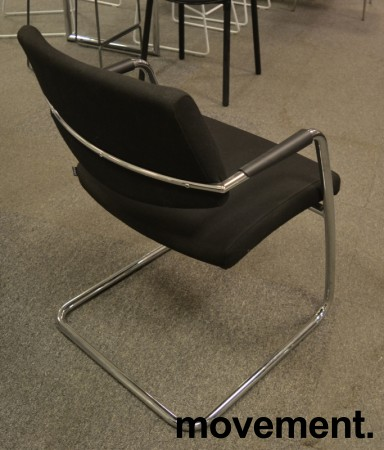 Konferansestol fra Sitland, modell Passepartout i sort / krom, pent brukt bilde 2