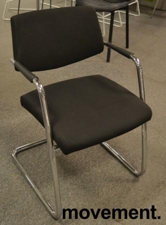 Konferansestol fra Sitland, modell Passepartout i sort / krom, pent brukt bilde 1