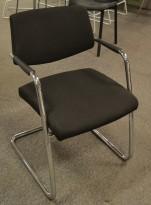 Konferansestol fra Sitland, modell Passepartout i sort / krom, pent brukt