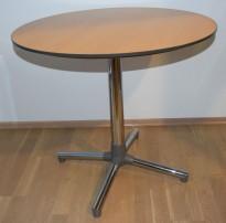 Lite, rundt møtebord fra ForaForm, Next-serie, bøk plate, Ø=80 cm H= 72 cm i bjerk, pent brukt