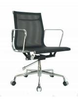 Lekker kontorstol fra Vitra: Eames EA117 i sort meshstoff / krom, hjul og gasslift, pent brukt
