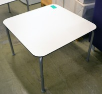 Loungebord / sofabord i hvitt / grått, borrelåsfeste, 65x65cm, pent brukt