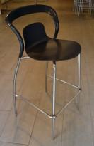 Barkrakk i sort fra Ames Design, kan stables, sittehøyde 79cm, pent brukt