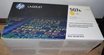 Original toner til HP: CE402A (507A) Yellow, for HP Laserjet Enterprise Color M551, NY/UBRUKT